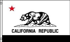 Black And White CALIFORNIA FLAG 3x5 CA Republic American Banner