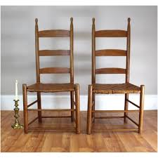 Devine Pumpkin Patch Harrodsburg Ky by Antique Shaker Ladderback Ladder Back Pair Of Chair Split Wood