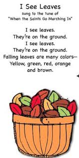 Smart Kids Fall Songs I Like This Song But Would Change The Words From See Leaves To Colorful