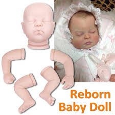 22 Unpainted Reborn Doll Kits Soft Vinyl Newborn Baby Model Set