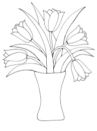 Printable Tulip Coloring Pages Tulips Free Print Full Size