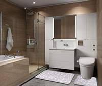 badezimmermatten 2 teilig rutschfest waschbar badvorleger set badematte und wc vorleger 80 x 50 cm grau