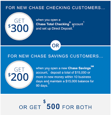 Expired]Publicly Available: Chase $500 Checking And Savings ... Roundup Of Bank Bonuses 750 At Huntington 200 From Chase Total Checking Coupon Code 100 And Account Review Expired Targeting Some Ink Cardholders With 300 Brighton Park Community Bonus 300 Promotion Palisades Credit Union Referral 50 New Is It A Trap Offering Just To Open Checking Promo Codes 350 500 625 Business Get With 600 And Savings Accounts Handcurated List The Best Sign Up In 2019 Promotions Virginia