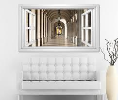 3d wandtattoo fenster durchgang tür flur marmor weiß wand aufkleber wanddurchbruch sticker selbstklebend wandbild wandsticker wohnzimmer 11o2523