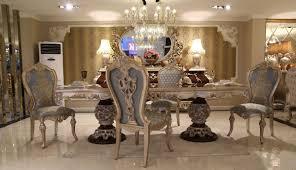 casa padrino luxus barock esszimmer set 1 esstisch 8 esszimmerstühle esszimmermöbel im barockstil edel prunkvoll luxus qualität