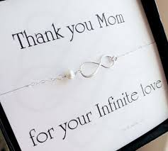 Mother Of The Groom Or Bride Card With Silver Infinity Necklace Pearl In Law Gift Boxed Set For Mom Ferran