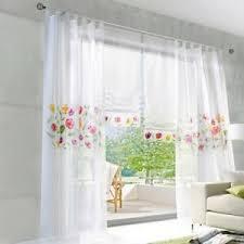 details zu gardinen vorhänge weiß schlaufenschals deko gardinen wohnzimmer stores voile