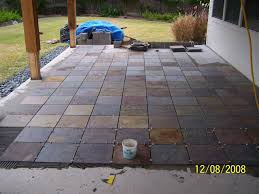 Outdoor Patio Flooring Options | ... Trim Paint And New Flooring ... Tiles Exterior Wall Tile Design Ideas Garden Patio With Wooden Pattern Fence And Outdoor Patterns For Curtains New Large Grey Stone Patio With Brown Wooden Wall And Roof Tile Ideas Stone Designs Home Id Like Something This In My Backyard Google Image Result House So When Guests Enter Through A Green Landscape Enhancing Magnificent Hgtv Can Thi Sslate Be Used
