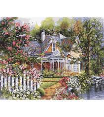 Plaid Paint By Number Kit 16x20 Victorian Garden