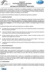 FONACOT LICITACIÓN PÚBLICA NACIONAL SISTEMAS DE SEGURIDAD Y