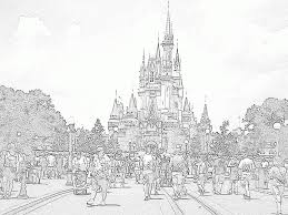 Disney Castle Coloring Pages Tag Cinderella Inside Page