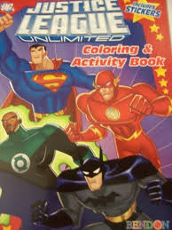 Justice League Unlimited Coloring Activity Book With Stickers Batman Flash Green Lantern
