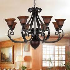 wrought iron black finished 26 inch 5 light downlight