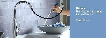 kohler coralais kitchen faucet leak pull out repair replacement