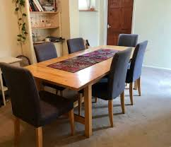 Large Oak Dining Table - Extendable With 8 Matching Chairs | In Windsor,  Berkshire | Gumtree Ideas Leg Licious Barn Extenders Reclaimed And Ding Metal Huge Oak Table 70100 Yrs Old 8 Grey Modern Chairs Room Solid Extendable Extended Splendid Dark Wood Rustic Kitchen Sets Fniture Extending Leather Small Round Agreeable Seats Black Luxury Large Lazy Susan8 18 Extra High Velvet Pin On Decor Brunswick Weathered Oval