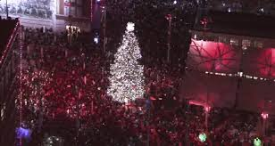 Christmas Tree 75 Ft by Christmas Tree Lighting At Sundance Square Nbc 5 Dallas Fort Worth