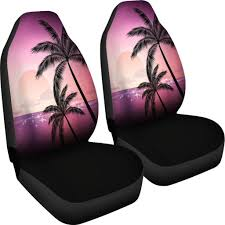 Pink Palm Tree Sunset Design Seat Covers | Products In 2019 ...