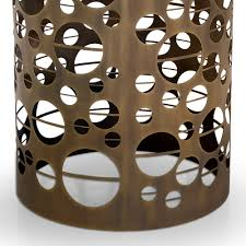Laser Cut Lamp Shade by Laser Cut Bronzed Metal Round Marble Italian Dining Table