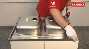 installation instructions for stainless steel drop on franke sinks