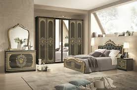 schlafzimmer in schwarz gold barock 160x200cm komplett schlafzimmer ebay