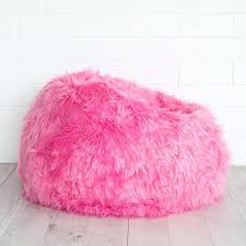 Bean Bag Pink Hot Furry Chair