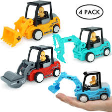100 Trucks And Cars Amazoncom Construction Truck Vehicles Toys 4Pack Pull Back Go
