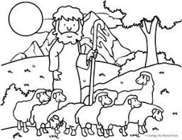 Lord Is My Shepherd Coloring Page