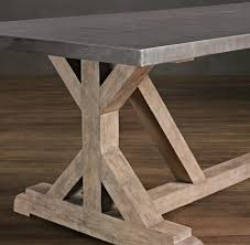 A Good Long While Ago I Saw This Restoration Hardware Dining Table And Was Really Drawn To The Silouette With X Inspired Sides