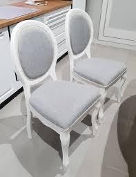 2er set esszimmerstuhl stuhl küchenstuhl polsterstuhl weiß grau 15929