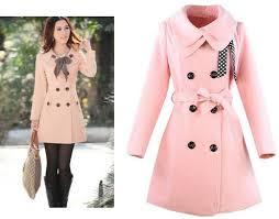 Light Pink Coat Womens JacketIn