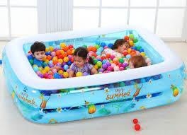 piscine a balle gonflable 200x150x53 cm grande piscine gonflable jeu parent enfant océan