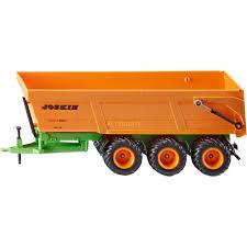 100 Toy Farm Trucks And Trailers Joskin Tripleaxle Tipping Trailer Vehicle TruckTrailer Model GreenOrange Plastic 340 Mm 95 Mm 161 Mm