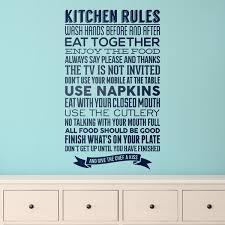 la cuisine en anglais sticker muraux pour cuisine règles de la cuisine