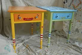 Unique Painted Kids Style Desk