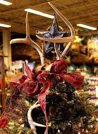 View In Gallery Antlers Paired With A Star Tree Topper