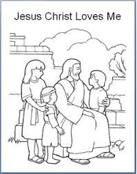 Emmas Place Jesus Christ Loves Each Of Us Primary 3 Lesson 30 Coloring Page Mas