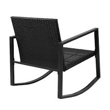 Gardeon Outdoor Rocking Chair And Table Set (Black) Durogreen Classic Rocker Black 3piece Plastic Outdoor Chat Set Presidential Recycled Wood Patio Rocking Chair By Polywood Shop Intertional Concepts Slat Seat Palm Harbor Wicker Grey At Home Trex Fniture Yacht Club Charcoal Americana Style Windsor Jefferson Woven With Tigerwood Weave Colby Cophagen Cushioned Rattan Armchair Glider Lounge Cushion Selections Chairs At Lowescom