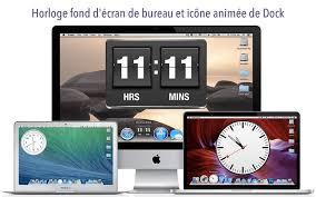 horloge de bureau fond d écran dock d horloge dans le mac app store