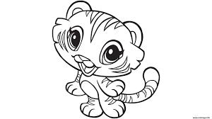 Coloriage Tigre Les Beaux Dessins De Animaux à Imprimer Et