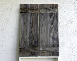 Rustic Shutters Set Of 2 Door Barn Doors Wooden Decor