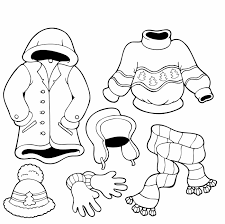 Free Winter Coloring Pages For Kindergarten Clothes The Cold Preschool Pictures