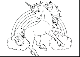 Powerful Unicorn Coloring Pages Cute Printable Baby 17401