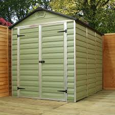 8x6 Wood Storage Shed by Plastic Sheds Choose A Plastic Shed From Worldstores