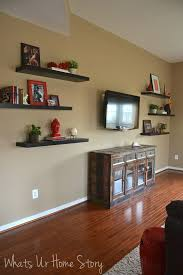How To Decorate Around A TV With Floating Shelves Whats Ur Home Throughout Tv Plans 10