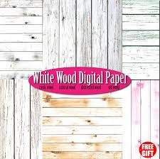 White Wood Digital Paper Rustic Wall Art Scrapbook Background Natural Wooden Clipart Frame From DIGIFT On