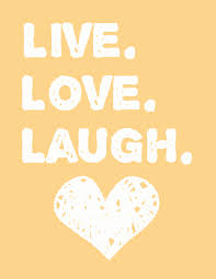 Free Printable Live Love Laugh Wall Art For Your Home Decor And Adorable Tangerine Colored
