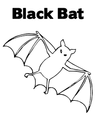 Free Printable Coloring Bat Page 37 For Kids With