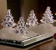 Qvc Christmas Trees Uk by Set Of 4 Illuminated Mercury Glass Trees By Valerie Qvc Mercury
