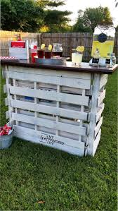 Portable Patio Bar Ideas by Portable Folding Diy Pallet Bar Great For Weddings Tailgating