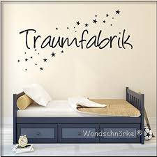 wandtattoo schlafzimmer spruch traumfabrik 60x18cm blau
